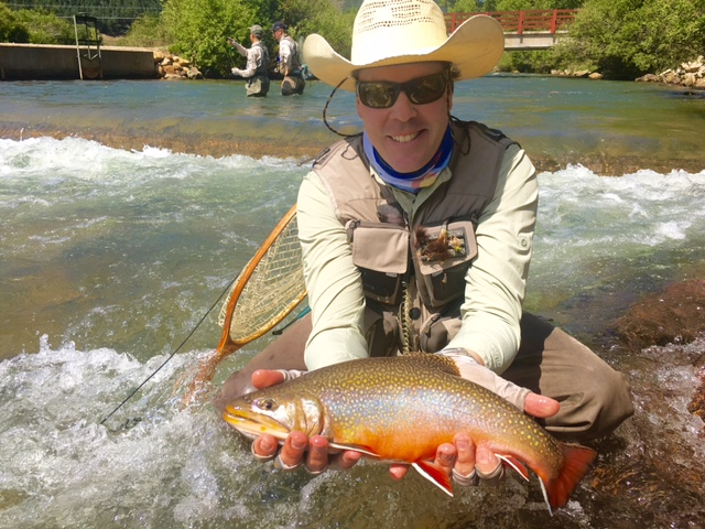 Brian with a brook trout